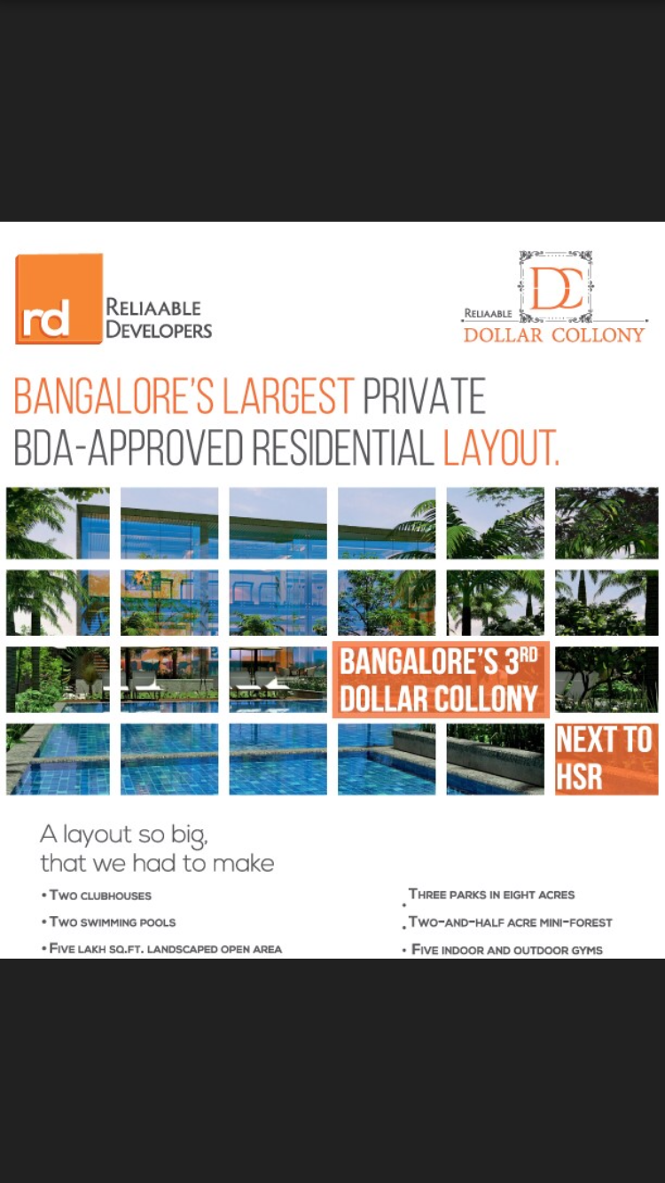 BDA approved plots for sale in Bangalore