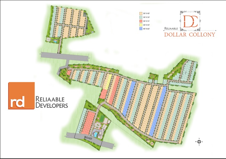 layout of Dollar Collony Bangalore.