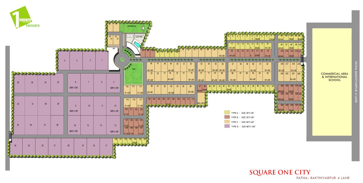 Square One City - Layout plan