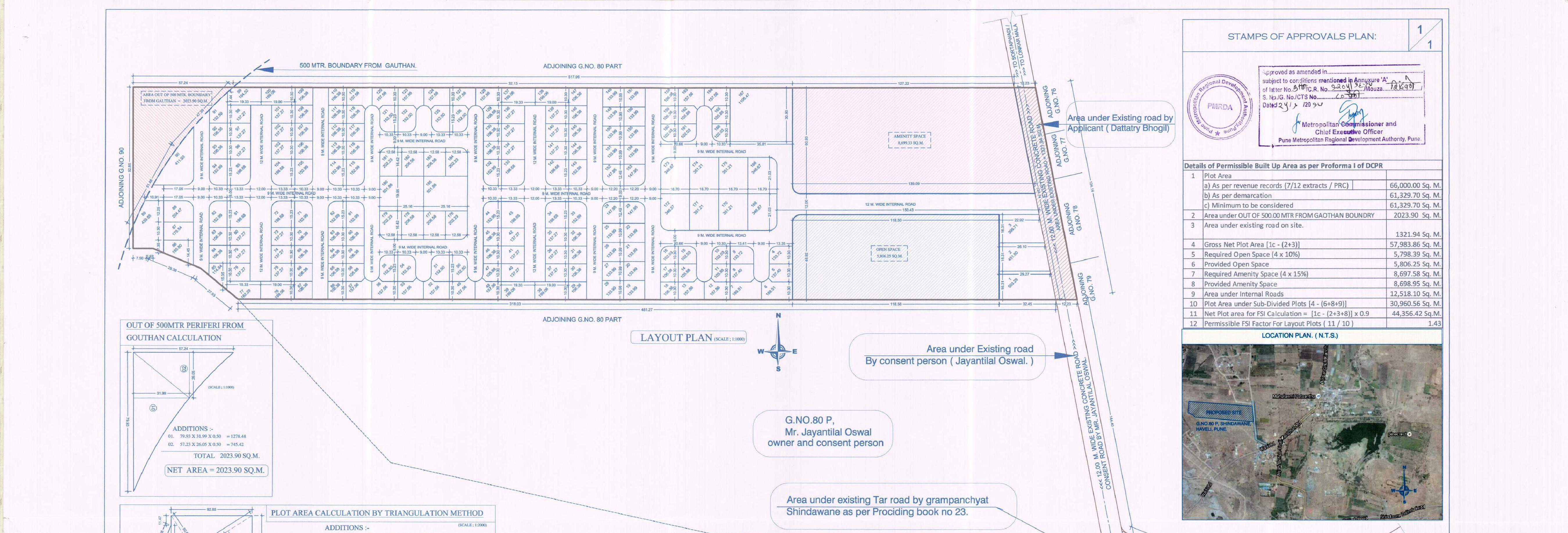 layout at Chintamani paradise