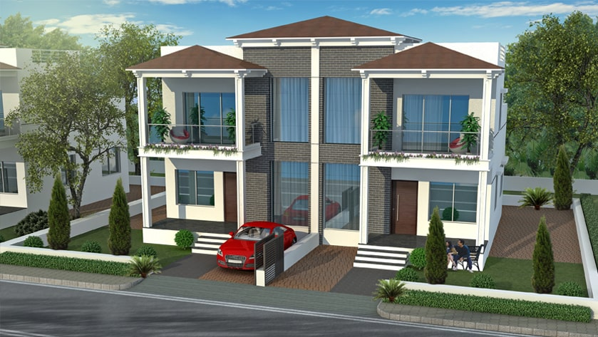 Artistic elevation for 2 bhk